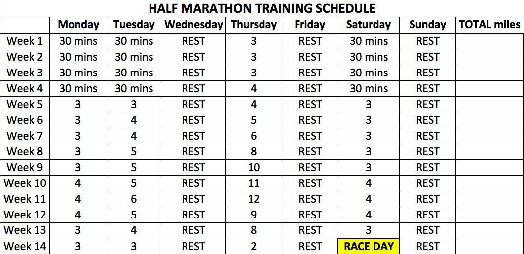 running room 10k training schedule pdf